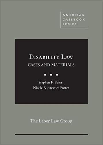Disability Law Cases and Materials cover